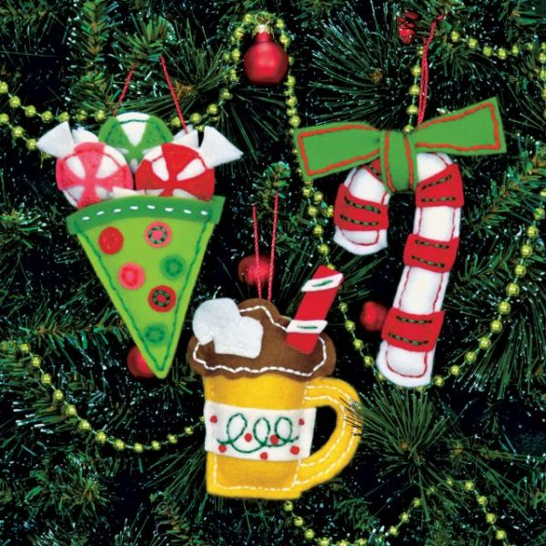 Sweet Treats Ornaments Felt Applique Kit