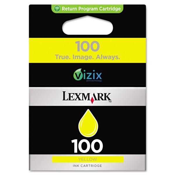 Lexmark #100 Yellow Return Program Ink Cartridge (14N0902)