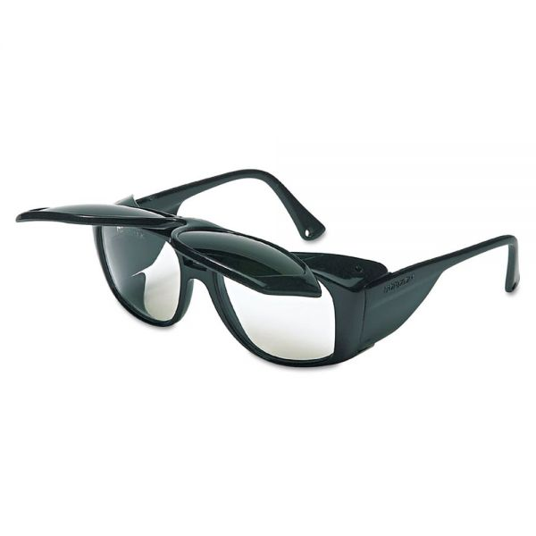Uvex by Honeywell Horizon Flip-Up Safety Glasses, Black Frame, Clear/Shade 5.0 Lenses