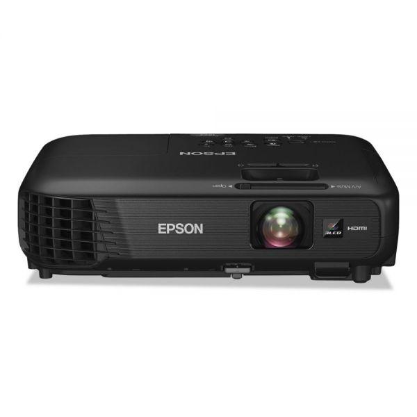 Epson PowerLite 1224 XGA 3LCD Projector, 3200 Lumens, 1024 x 768 Pixels, 1.2x Zoom