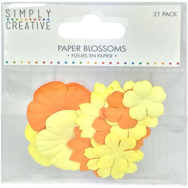 Simply Creative Blossoms Paper Flowers 21/Pkg