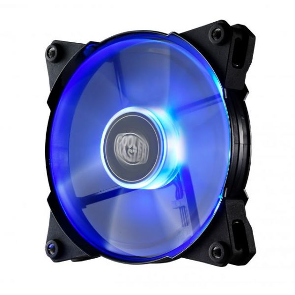Cooler Master JetFlo 120 - POM Bearing 120mm Blue LED High Performance Silent Fan for Computer Cases, CPU Coolers, and Radiators