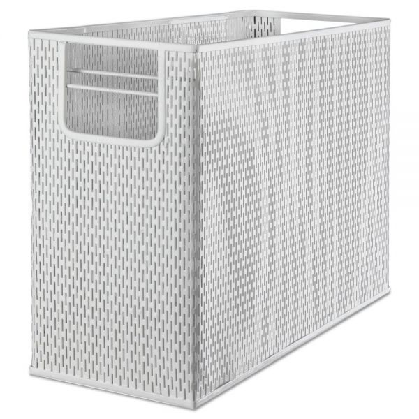 Artistic Urban Collection Punched Metal Desktop File, 13 x 5 3/4 x 10 3/4, White