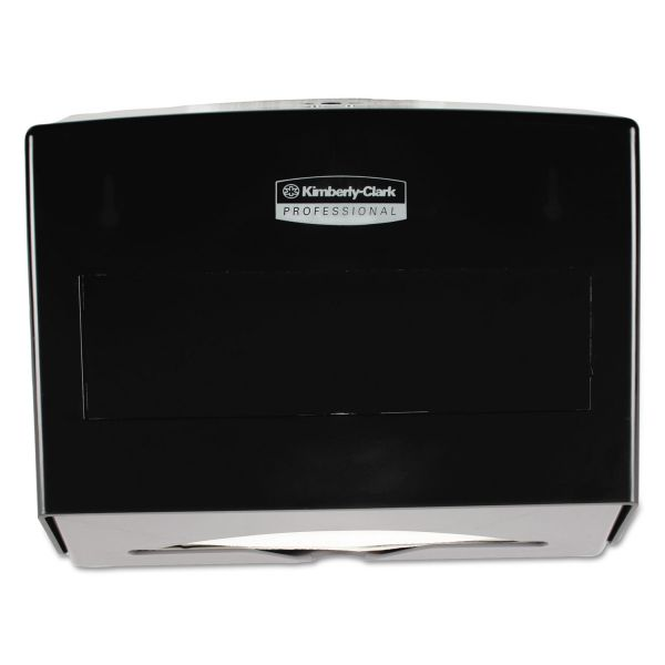Kimberly-Clark Professional* Scottfold Towel Dispenser, Plastic, 10 3/4w x 4 3/4d x 9h, Smoke