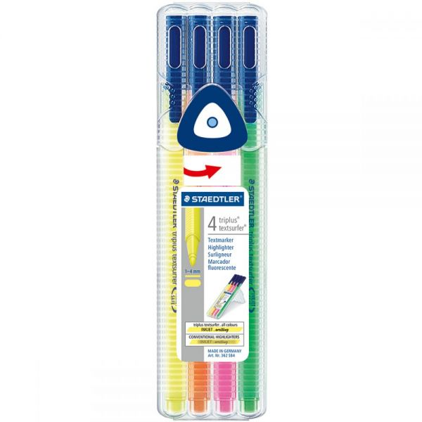 Triplus Textsurfer Highlighters 4/Pkg