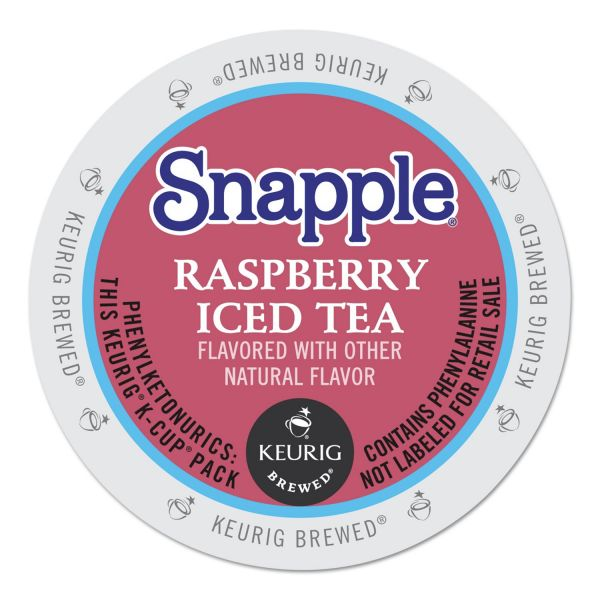 Snapple Raspberry Flavored Iced Tea K-Cups