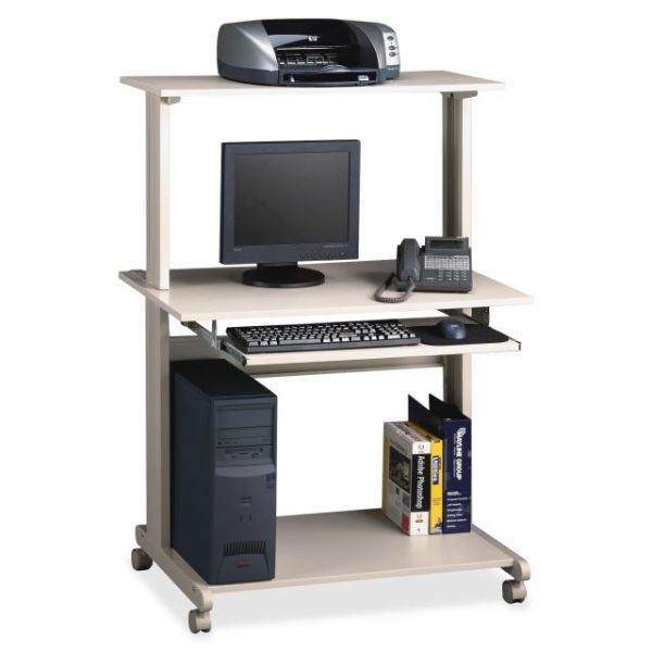 Tiffany Industries Eastwinds Multimedia Workstation, 36-3/4w x 21-1/4d x 50h, Gray Laminate Top