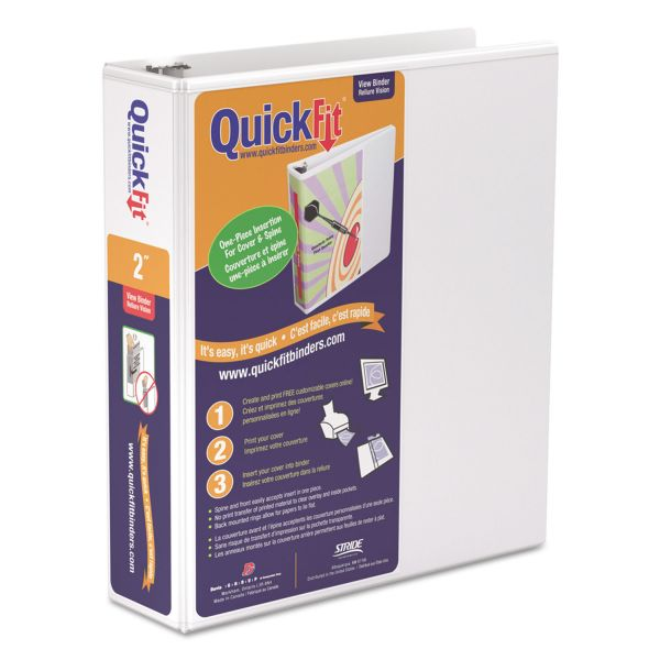 "Stride QuickFit 2"" 3-Ring View Binder"