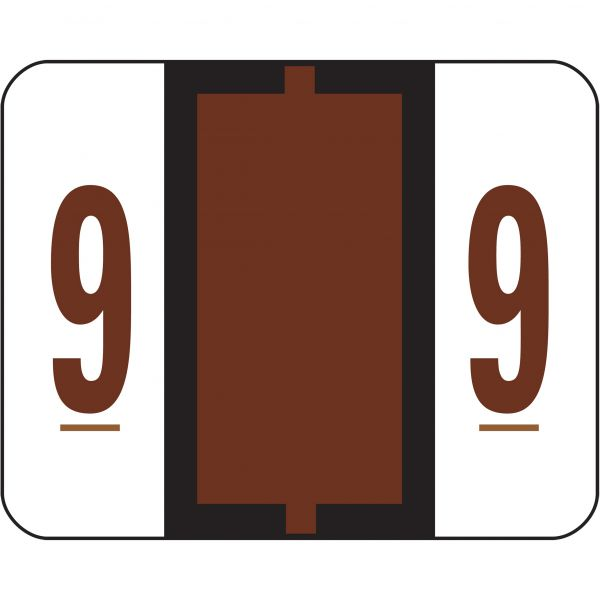 Smead BCCRN Bar-Style Color-Coded Numeric Label - 9
