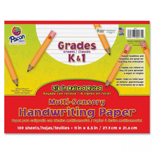 Pacon Multi-Sensory Raised Ruled Handwriting Paper