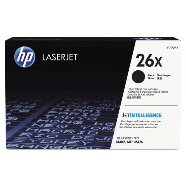 HP 26X High Yield Black Toner Cartridge (CF226X)