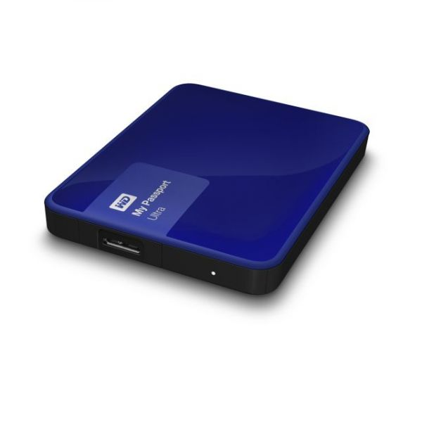 WD My Passport Ultra 1TB USB 3.0 Secure portable drive with auto backup Nobile Blue