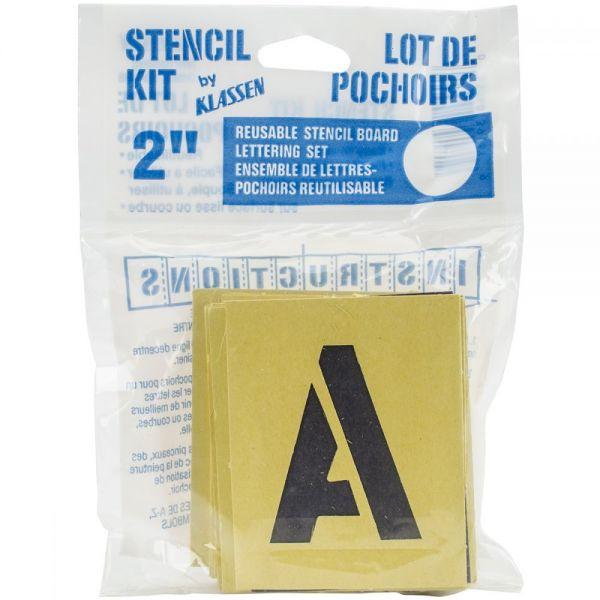 Reusable Stencil Lettering Kit