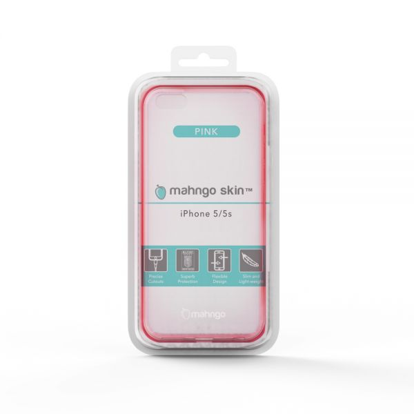 ReVamp Mahngo Skin Slim TPU Protective Case (Pink) (iPhone 5/5S)