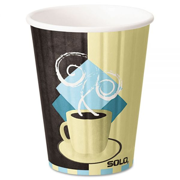 SOLO Duo Shield Insulated 12 oz Paper Coffee Cups