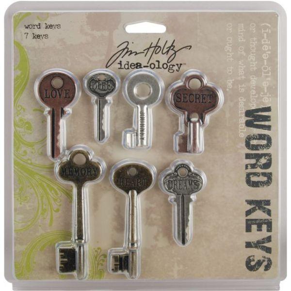 """Idea-Ology Word Keys 1.5"""" To 3"""" 7/Pkg"""