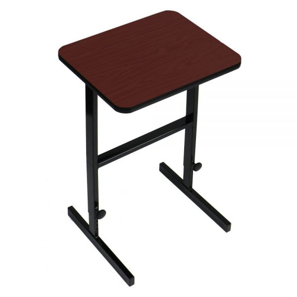 "Correll Adjustable Standing Height Workstation - 24"" x 36"" - Cherry"