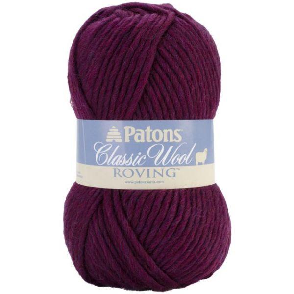 Patons Classic Wool Roving Yarn - Plum
