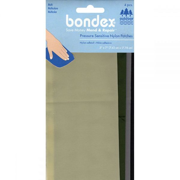 """Bondex Nylon Repair Fabric 3""""X7"""" 4/Pkg"""