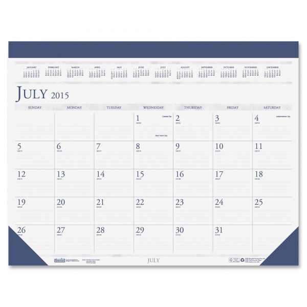 House of Doolittle Compact Monthly Academic Desk Pad Calendar