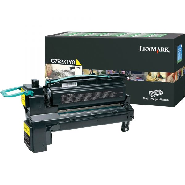 Lexmark C792X1YG Yellow Extra High Yield Return Program Toner Cartridge