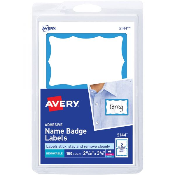 Avery Self-Adhesive Name Tags