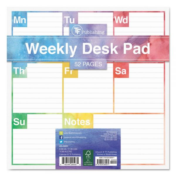 TF Publishing Elements Undated Weekly Desk Pad