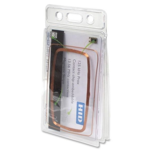 Baumgartens Vinyl Two-Badge Smart Card Holder