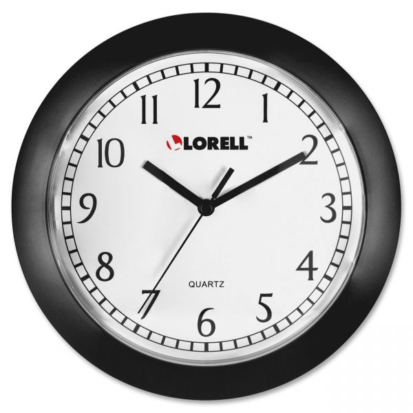 "Lorell 9"" Round Profile Wall Clock"