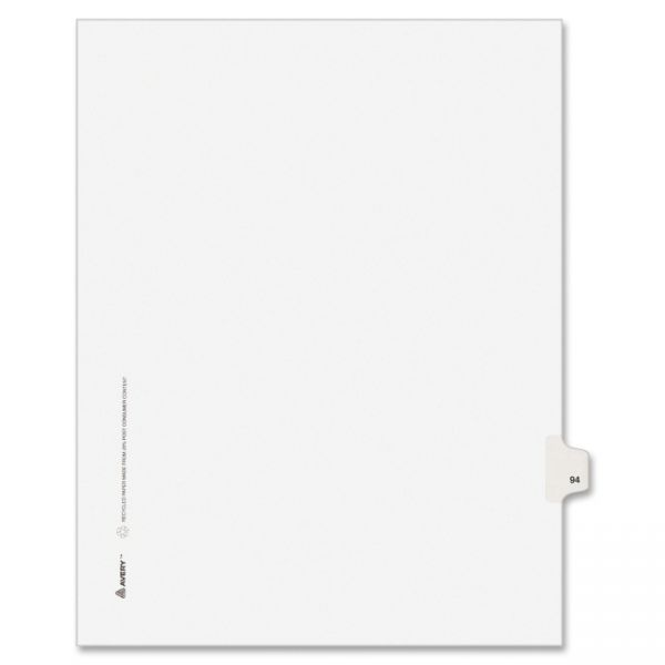 Avery Individual Legal Exhibit Dividers - Allstate Style