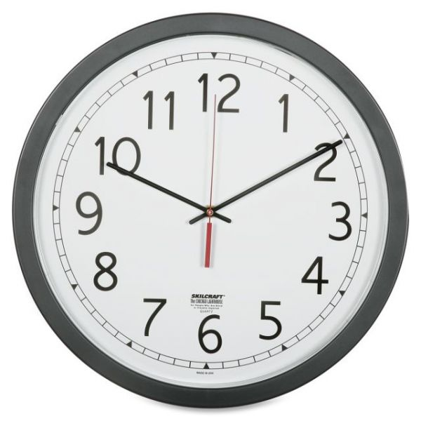 SKILCRAFT Round Workstation Wall Clock