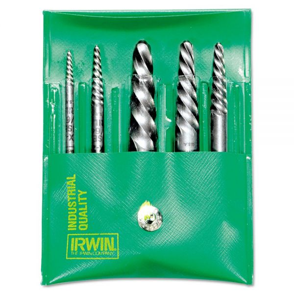 IRWIN Spiral-Flute Extractor, Five-Piece Set, EX-1 To EX-5