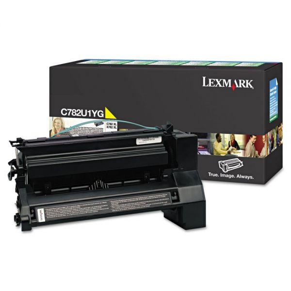 Lexmark C782U1YG Yellow Extra High Yield Return Program Toner Cartridge