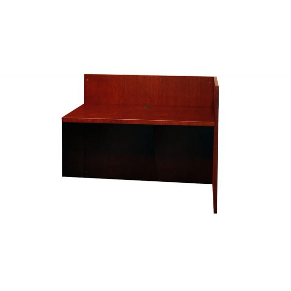 Mayline Mira Series Veneer Reception Return, 48w x 24d x 42h, Medium Cherry