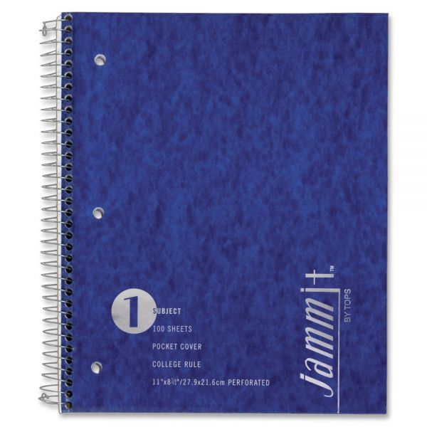 Tops Jammit Pocket College Ruled Spiral Notebook