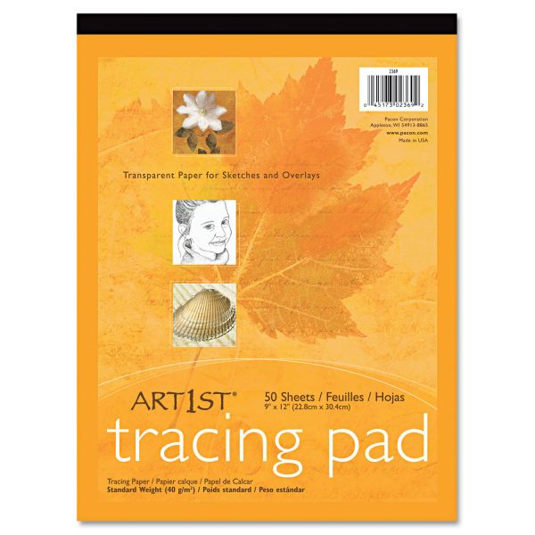 Pacon Art1st Parchment Tracing Paper, 9 x 12, White, 50 Sheets