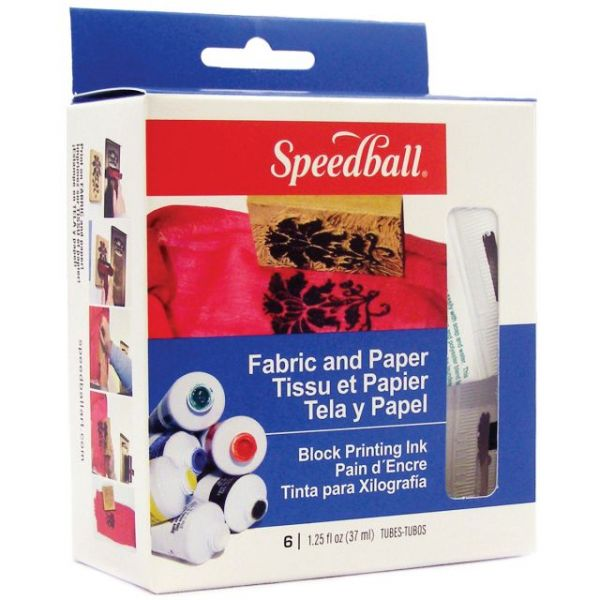 Speedball Block Printing Inks 1.25oz 6/Pkg