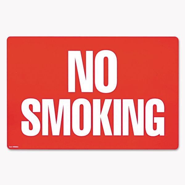 "COSCO ""No Smoking & No Smoking/No Fumar"" Double-Sided Sign"