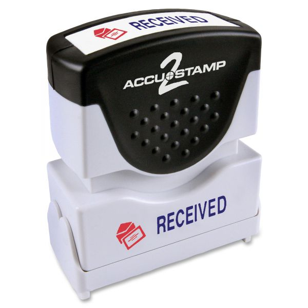 ACCUSTAMP2 Pre-Inked Shutter Stamp with Microban, Red/Blue, RECEIVED, 1 5/8 x 1/2
