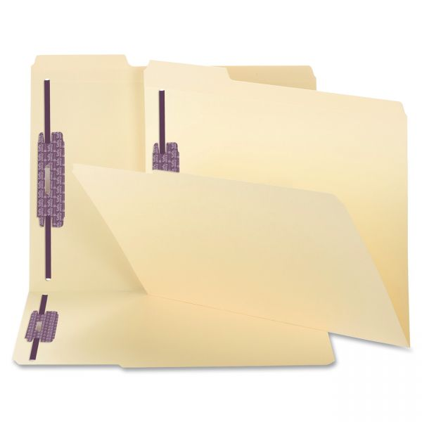 Smead Manila Top-Tab File Folders with SafeSHIELD Fasteners