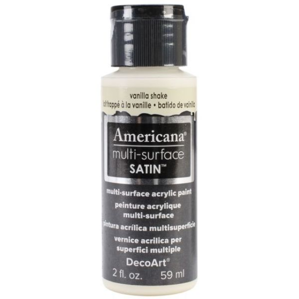 Deco Art Vanilla Shake Americana Multi-Surface Satin Acrylic Paint