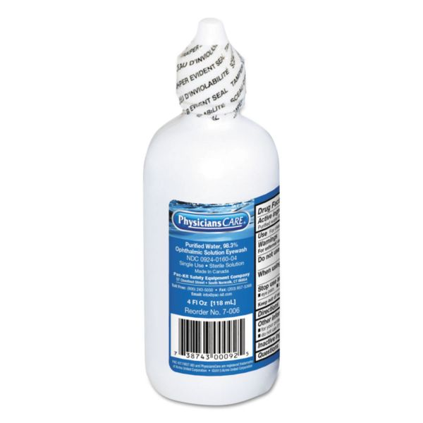 PhysiciansCare by First Aid Only First Aid Disposable Eye Wash, 4oz