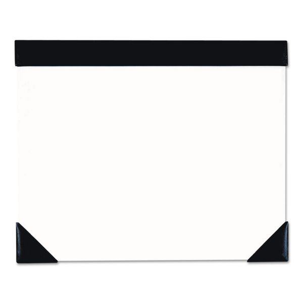 House of Doolittle Executive Doodle Desk Pad, 25-Sheet White Pad, Refillable, 22 x 17, Black