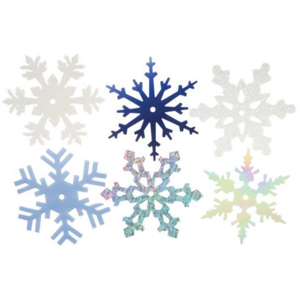 "Large Shimmer Snowflakes 2"" 50/Pkg"