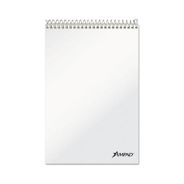 Ampad Spiral Steno Book, Gregg, 6 x 9, 20 lb, Green Tint, 70 Sheets, 6/Pack