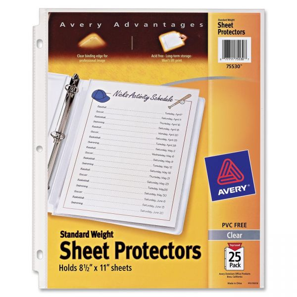 Avery Top Loading Sheet Protectors