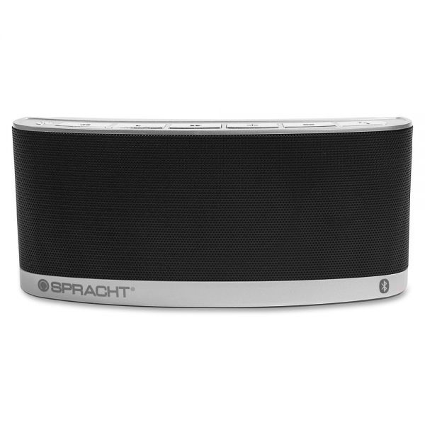 Spracht Blunote2.0 Speaker System - 10 W RMS - Portable - Battery Rechargeable - Wireless Speaker(s) - Black