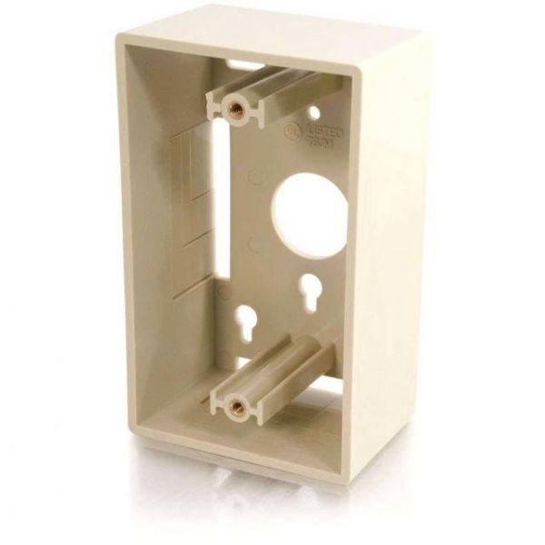 C2G Single Gang Wall Box - Ivory