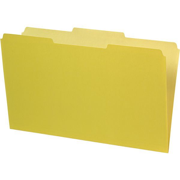 Pendaflex Yellow Colored File Folders