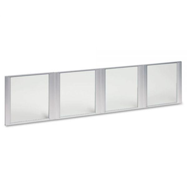 """Alera Valencia Series Hutch Bookcase Doors for 72""""w ALEVA297215, 17w x 16h, Clear"""